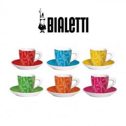 Set 6 Tazzine per Caffè con Piattino BIALETTI