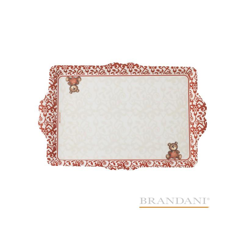 Vassoio antiscivolo Orsetto abbracci BRANDANI in melamina Codice prodotto: 54450